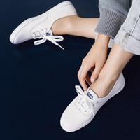 Keds 女士春夏季百搭纯色低帮系带休闲帆布鞋单鞋 经典小白鞋 WF34000