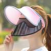 移動專享 : 馥芳女人 空頂雙層遮陽帽 4#粉色