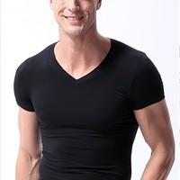 莫代尔 HT171-1 男士短袖T恤
