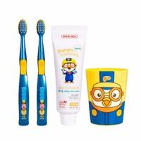 Pororo  啵乐乐 儿童牙膏牙刷漱口杯4件套 *2件