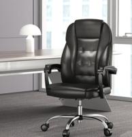 Hbada 黑白調 HDNY166 PU皮家用電腦椅 黑色