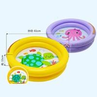 INTEX 兒童充氣游泳池 送充氣腳泵+修補包