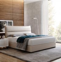 芝華仕 皮床 意大利意式實木儲物床高箱床小戶型臥室收納床 愛蒙C030 月光白 1800*200030-60天發貨