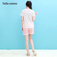 88VIP : tutuanna家居服女 夏季短袖 舒适睡衣 可外穿休闲T恤女