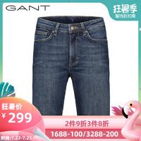 GANT/甘特新品女士牛仔色短裤女生五分裤裤短裤420411