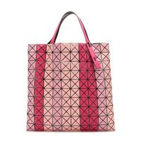 京东PLUS会员:BAO BAO ISSEY MIYAKE 三宅一生 女士粉色多色拼色PVC手提包
