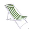 折疊躺椅 現代簡約環保實木帆布辦公午睡椅戶外釣魚可調節靠椅沙灘椅G69(白架綠白條 整裝發貨)