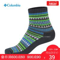 經典款Columbia哥倫比亞戶外春夏男女通用印花舒適運動襪LU0460