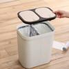 干濕分離垃圾桶家用廚房客廳臥室衛生間上海雙分類帶蓋大號塑料筒