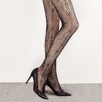 移動端 : 網易嚴選 意大利制造 花漾性感鏤空網襪