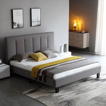 A家家具 DA0173 现代简约软包双人床 1.8米