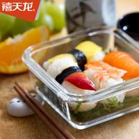 禧天龍耐熱玻璃保鮮盒輔食盒玻璃分隔飯盒微波爐可用