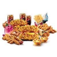 预售:KFC 肯德基 Y33 重磅缤纷欢享餐(3-4人餐)电子券码