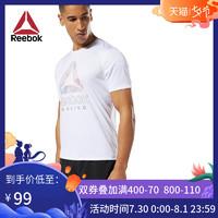 Reebok銳步官方 運動健身 RE GRAPHIC TEE 男子跑步短袖T恤FKS51