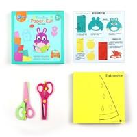 WeVeel 兒童剪紙剪刀套裝(200張彩紙 2把安全剪刀)
