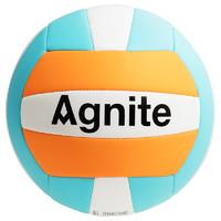 安格耐特排球中考學生專用室內訓練用球初中生軟式排球海綿藍色