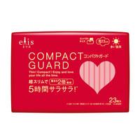 日本大王 elis COMPACT GUARD超薄貼護日用綿柔護翼衛生巾 23cm*23片 *3件