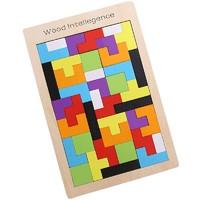 俄羅斯方塊積木拼圖 智慧拼板(配玩法圖紙)