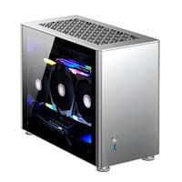 喬思伯(JONSBO)A4 Ver1.1版本 ITX機箱 銀色(240水冷/SFX-L電源/325MM長顯卡/垂直風道/鋼化玻璃側板)