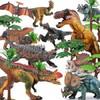 活石 恐龍玩具仿真模型套裝 10只套裝(送8顆樹 2個石頭 1本恐龍手冊)