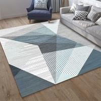 京東PLUS會員 : 佳佰 地毯 北歐簡約加厚防滑客廳沙發茶幾地墊 簡約三角形-3 140*200cm *3件