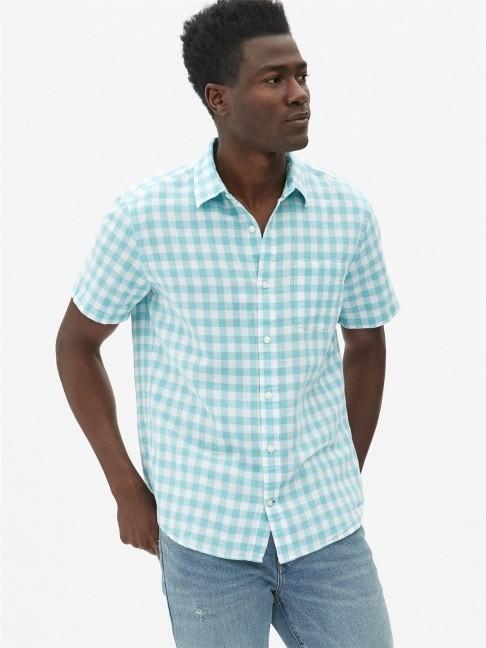 Gap 盖璞 441124 男士棉麻混纺衬衫