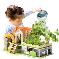 达拉 有生命的立体种植拼图 含种子+纸模+种植土 4款可选