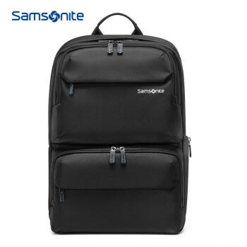 新秀麗電腦包15.6英寸男女雙肩背包書包 Samsonite 商務背包旅行包36B 黑色