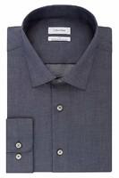 Calvin Klein 卡尔文·克莱恩 男式 Big and Tall 免烫修身人字型领礼服衬衫