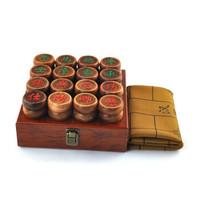 花梨木紅木象棋套裝 皮革象棋盤 5.8配商務木盒