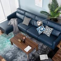 值友专享:曲美 QM19-S5 科技布沙发 组合沙发+单背+右美人榻