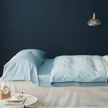 大朴(DAPU)睡袋 60支纯棉酒店隔脏睡袋 旅游床单 出差旅行被套 灰湖蓝 160*210cm