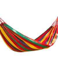 UNIT 尤利特 戶外野營綁繩帆布吊床 彩虹色