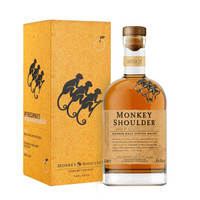 Monkey Shoulder 三只猴子 调和纯麦苏格兰威士忌 700ml *2件
