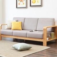 99划算节:维莎 w0489 日式纯实木沙发 三人位