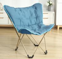 诺比力 可折叠蝴蝶椅大号懒人椅(加大加厚款)