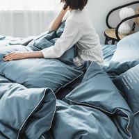 Xanlenss 轩蓝仕 60支长绒棉床笠款四件套 1.8m