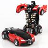 兒童玩具一鍵變形汽車 變形金剛模型玩具車 *4件