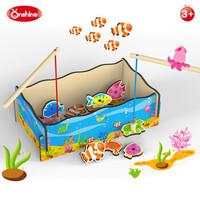 釣魚類游戲磁性木質玩具 釣魚玩具