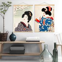 日式和風人物裝飾畫