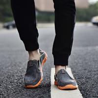 探路者男營地鞋休閑戶外徒步鞋一腳登帆布鞋
