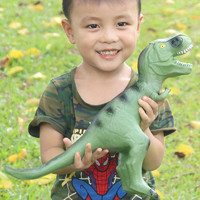 勾勾手 軟膠恐龍玩具 中號