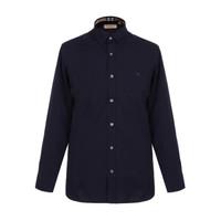 好物种草:BURBERRY 巴宝莉 80030731 男款海军蓝色棉氨纶长袖衬衫   *3件