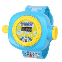 哆啦A夢投影手表卡通男孩女小孩學生電子寶寶兒童發光抖音玩具