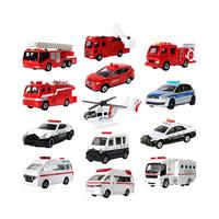 TAKARA TOMY 多美 合金车 玩具消防救护车警车