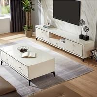 历史低价:QuanU 全友家居 120758 实木客厅家具 茶几+电视柜