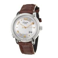 值友专享、银联专享:Glashütte 格拉苏蒂 Pano 100-03-21-14-05 男士机械腕表