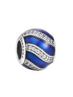 PANDORA潘多拉 藍色配飾925銀 女士琺瑯串飾-791991EN118 *2件 +湊單品