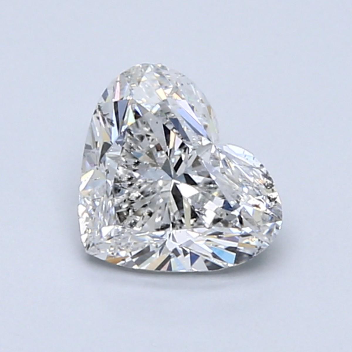 Blue Nile 1.00克拉 心形钻石(切工VG,成色D,净度SI2)