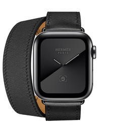 Apple 苹果 Watch Series 5 Hermès 智能手表(深空黑色不锈钢、Double Tour表带、40mm、GPS+蜂窝)